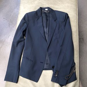 Viktor & Rolf navy blue gabardine blazer